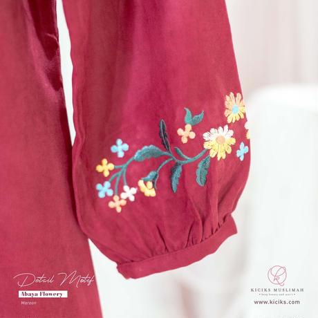 New Abaya Flowery
