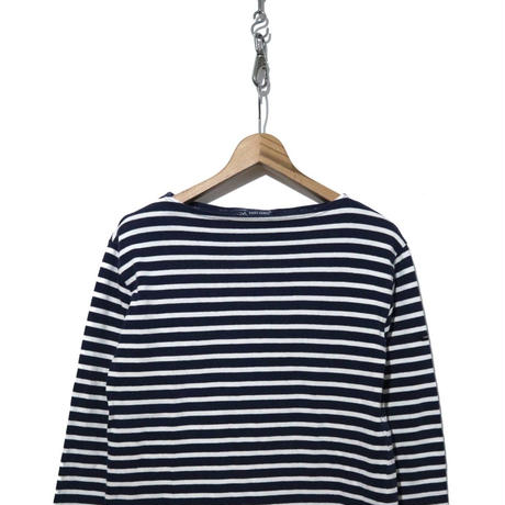 "SAINT JAMES ボーダー バスクシャツ ""ウエッソン"" Navy/White SMサイズ"