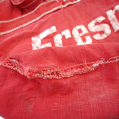 "50's~60's News Paper Bag ""Fresno Guide"" RED"