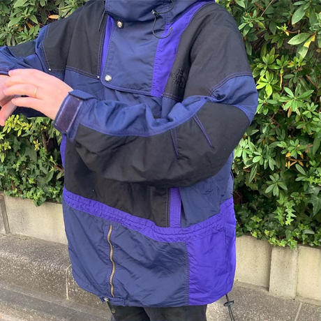 "90's THE NORTH FACE ""RAGE"" ジャケット BLACK×NAVY XLサイズ"