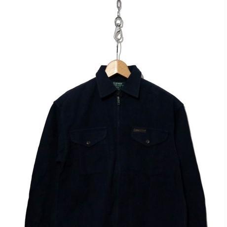 90's LAUREN Ralph Lauren ZIPシャツ ネイビー