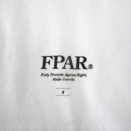 """FPAR """"Support your local."""" 両面 プリント チャリティー Tシャツ 4サイズ(XL)"""