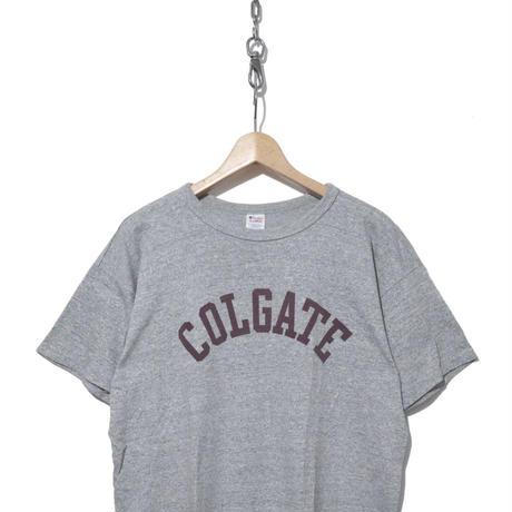 80's CHAMPION トリコタグ 染み込みプリント Tシャツ 88/12 USA製