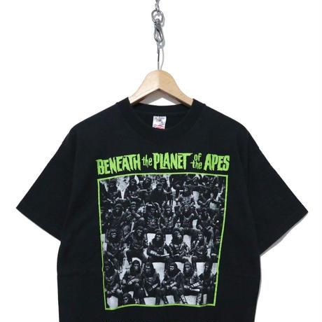 """""""続 猿の惑星"""" プリント Tシャツ FRUIT OF THE LOOM USA製 BLACK"""
