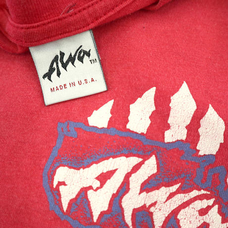 "~90's ALVA ""Scratch Logo"" 両面 プリント Tシャツ USA製"