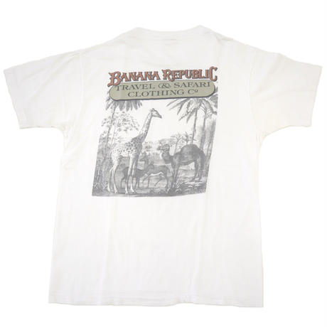 "80's~90's BANANA REPUBLIC ""Safari&Travel Clothing"" ポケット Tシャツ"