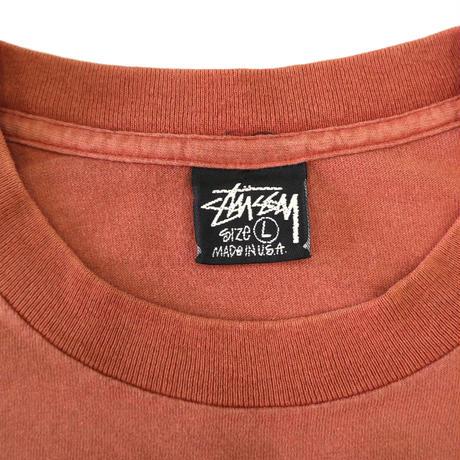 80's~90's OLD STUSSY プリント Tシャツ 黒タグ Lサイズ USA製