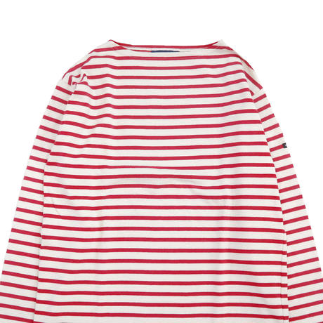 "SAINT JAMES ""ウエッソン"" ボーダー バスクシャツ Ecru×Red Lサイズ FRANCE製"