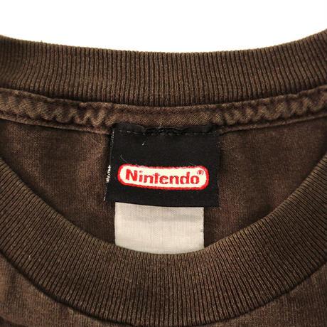 "Nintendo ""GAMER"" フロッキー プリント Tシャツ Brown"