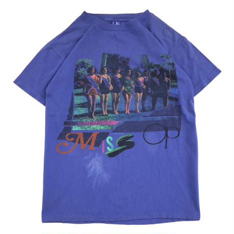 "80's Ocean Pacific ""Miss OP"" プリント Tシャツ XLサイズ USA製"