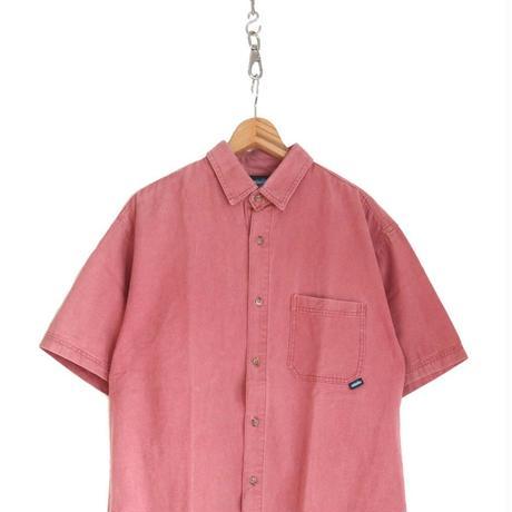 90's~00's KAVU ダック地 S/Sシャツ PINK Lサイズ USA製