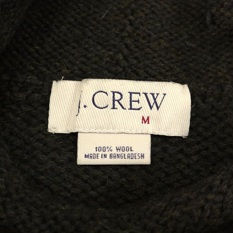 "~00's J.CREW ""ロールネック"" Wool Knit Dark-Olive Mサイズ"