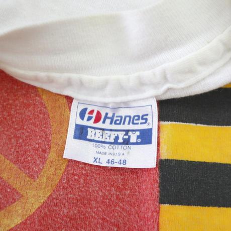 'Rare Body' ~90's Hanes ☮ 両面 プリント Tシャツ XLサイズ USA製