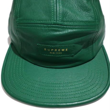 """Supreme"" LOGO CAMP CAP GREENレザー"