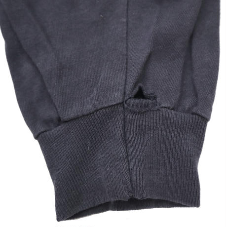 "90's DELTA ""YALE"" 袖プリント入り ロングスリーブ Tシャツ Navy XLサイズ"