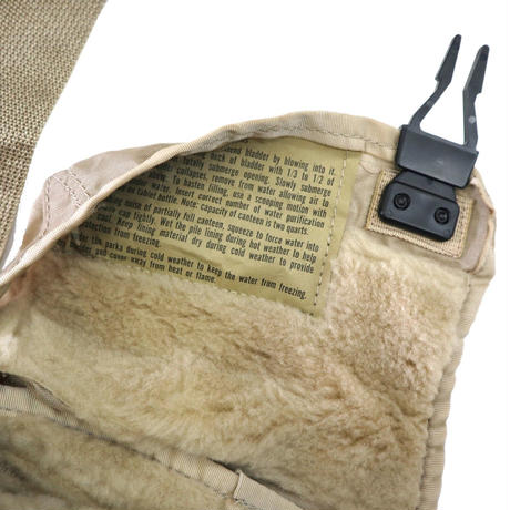 """Deadstock 00's US ARMY 米軍実物 """"COVER WATER CANTEEN"""" BAG Khaki"""