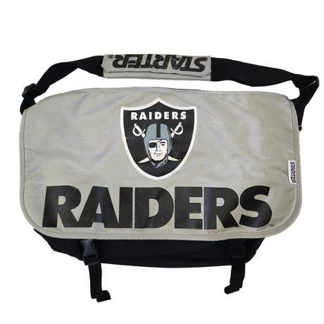 90's STARTER OLD RAIDERS Messenger Bag BLACK×GREY