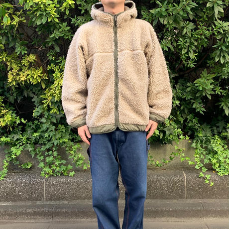 "PATAGONIA RETRO ""RHYTHM HOODY"" Fleece Jacket レトロカーキ"
