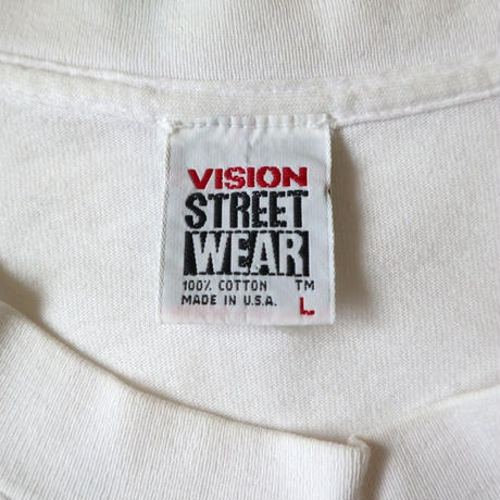 90's VISION 両面プリント Tシャツ WHITE XLサイズ USA製