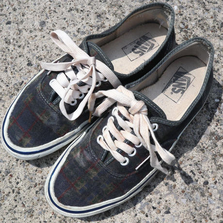 "90's VANS ""Authentic"" チェック柄 US7.5 USA製"