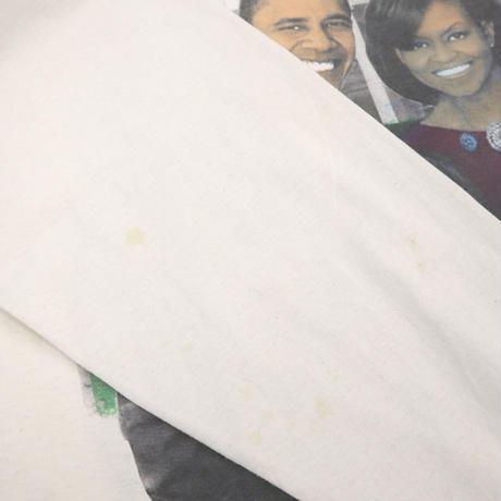 "00's FRUIT OF THE LOOM ""Obama"" 両面 プリント ロングスリーブ Tシャツ XLサイズ"