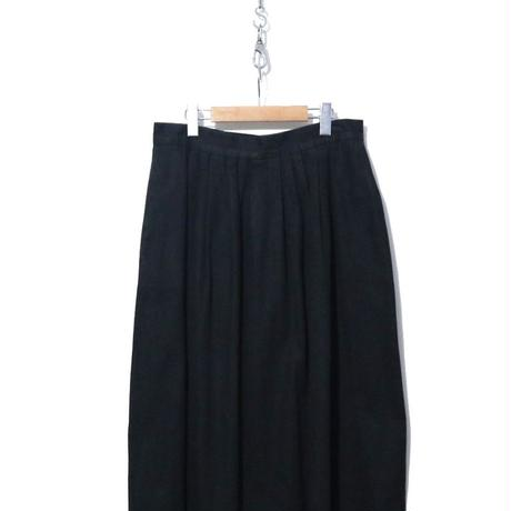 """""""レディース"""" 90's~ BLACK DENIM マキシ丈 フレア スカート USA製"""