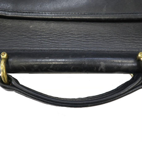 OLD COACH レザー ショルダー バッグ BLACK USA製