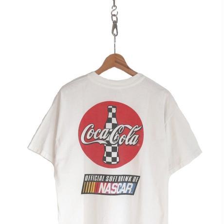 "90's HANES 企業物 ""Coca Cola×NASCAR"" 両面 プリント Tシャツ Lサイズ"