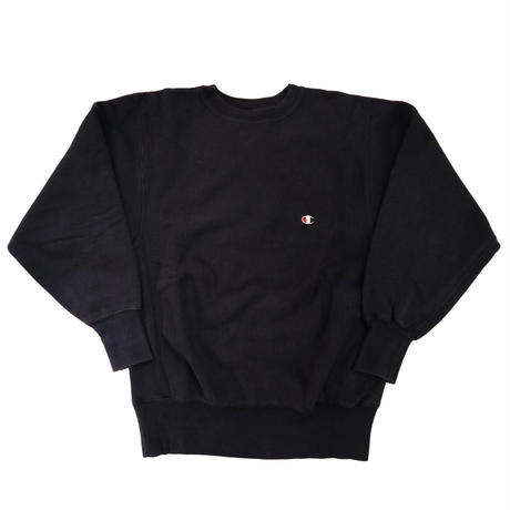 "90's CHAMPION RW SWEAT ""SOLID"" BLACK Lサイズ USA製"