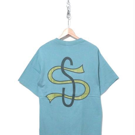 """90's OLD STUSSY Tシャツ """"BIG LEAGUE"""" 黒タグ Lサイズ USA製"""