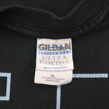 "00's GILDAN ""PSP"" 袖プリント Tシャツ BLACK XLサイズ"