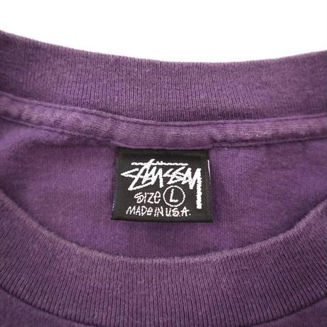 "80's~90's OLD STUSSY ""FRESH GEAR"" プリント Tシャツ 黒タグ USA製"