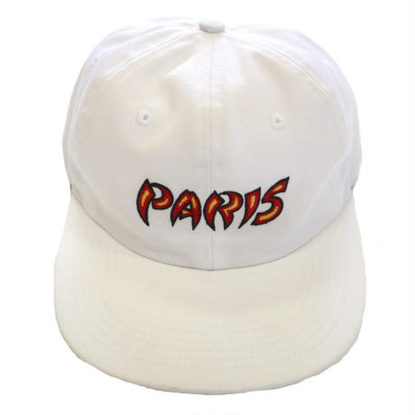 "美品 SUPREME COTTON 6-Panel LOGO CAP ""PARIS"" WHITE"
