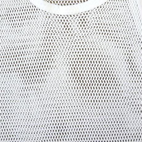 90's~ メッシュ タンクトップ WHITE XXLサイズ