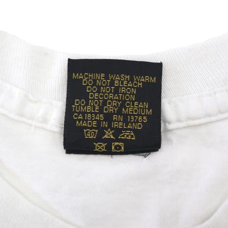 "90's ""Ryan Giggs"" 両面 プリント Tシャツ WHITE IRELAND製"