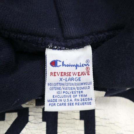 "90's CHAMPION RW SWEAT PARKA ""DENISON 211"" Navy XLサイズ USA製"