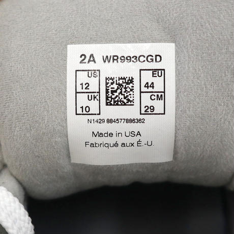 "未使用 NEW BALANCE WR993 ""COAST GUARD"" 29cm USA製"
