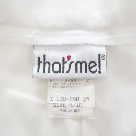 """""""Women's"""" 80's~ センタープレス  スラックス WHITE 9/10サイズ USA製"""