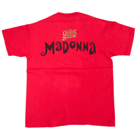 """90's anvil MADONNA """"THE GIRLIE SHOW"""" 両面 プリント Tシャツ Lサイズ USA製"""