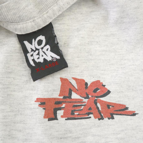 """90's NO FEAR """"YOU LOSE"""" 両面 プリントTシャツ 杢グレー XLサイズ USA製"""