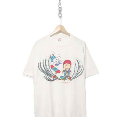 "90's JERZEES ""SNOOPY"" プリント Tシャツ WHITE XLサイズ USA製"