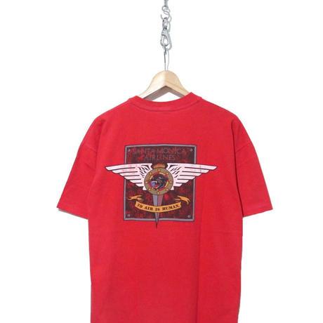 80's SANTA MONICA AIRLINES プリント Tシャツ XLサイズ USA製