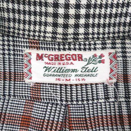 60's~70's McGREGOR グレンチェック レーヨン シャツ Mサイズ USA製