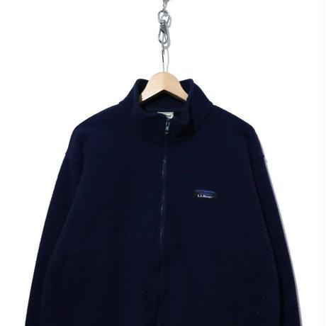 LL Bean FULL-ZIP フリースジャケット NAVY Lサイズ