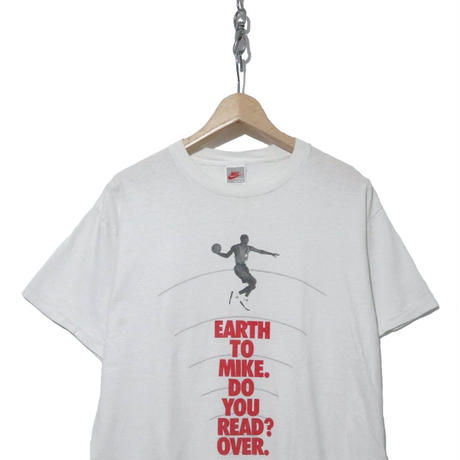 """90's NIKE Air Jordan Tシャツ """"EARTH TO MIKE"""" 銀タグ USA製"""