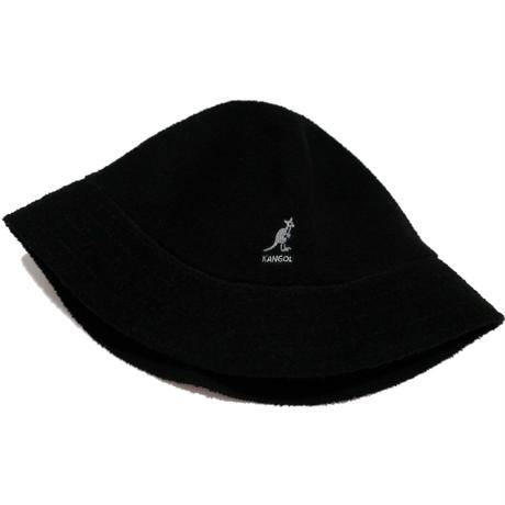 KANGOL BERMUDA CASUAL パイル ブラック