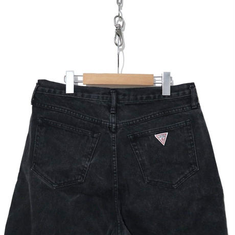 """90's GUESS """"Black Denim"""" Buggy Shorts USA製 (実寸W31)"""