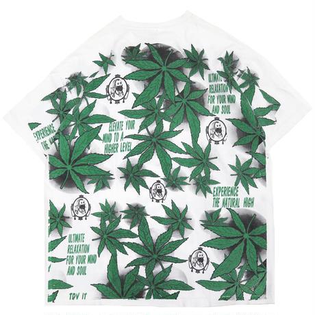 "90's~ Hanes ""ZIG ZAG&Marijuana"" オール オーバー プリント Tシャツ XLサイズ"