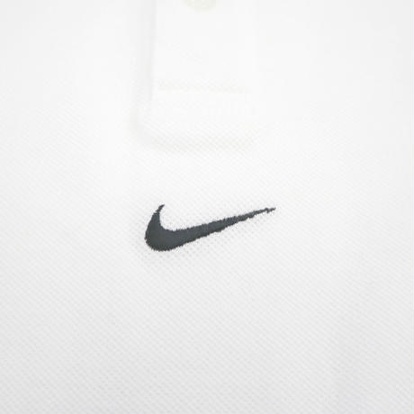 """90's~ OLD NIKE """"Embroidery Center Swoosh"""" 鹿の子 ポロシャツ Mサイズ"""
