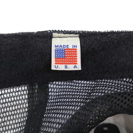 90's OLD INDEPENDENT 5-Panel Cap Black×Blue USA製